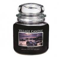 """Ароматическая свеча в стекле Village Candle """"Вулкан"""". 455 гр/ 105 часов"""