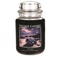 """Ароматическая свеча в стекле Village Candle """"Вулкан"""". 740 гр/ 170 часов"""