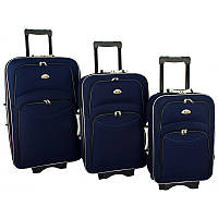Чемодан сумка 773 набор 3 штуки синий