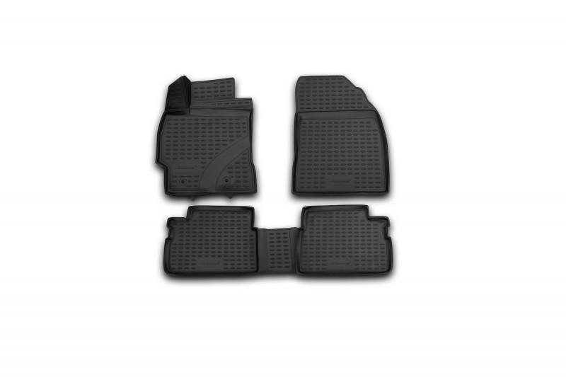 Коврики в салон для Тойота Corolla, 2013-> 4 шт полиуретан 3D NLC.3D.48.68.210k