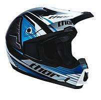 Мотошлем Thor S13 Quadrant Race синий L