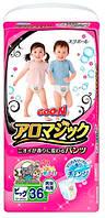 Goo.N трусики подгузники Aromagic для детей весом от 12 до 20 кг размер Big XL унисекс 36шт