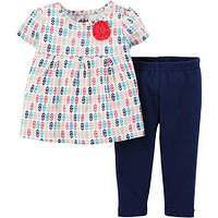 """Комплект для девочки Carter's """"Геометрия"""" (футболка и лосины) р.12М"""