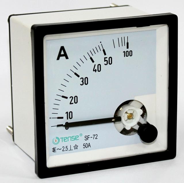 Амперметр прямого непоср. включения 50 а панельный щитовой 72х72 стрелочный цена переме
