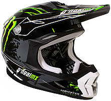 Мотошлем Oneal 7 Series Green Energy черный зеленый XL