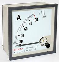Амперметр 0 - 100А (100/5) панельный щитовой 96х96 мм стрелочный цена переменного тока шкаф, фото 1