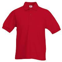 Детская красная футболка поло (Премиум)