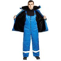 Курточка и полукомбинезон рабочий, костюм зимний, спецодежда утепленная, комплект рабочий