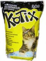 Kotix - Котикс силикагелевый наполнитель для кошачьего туалета, силикагель. 3,8 л