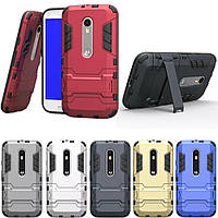 PC + TPU чехол Metal armor для Motorola Moto G3 (G 3gen) (6 цветов)