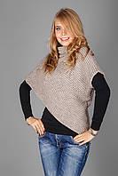 Необычная и стильная накидка-свитер с хомутом