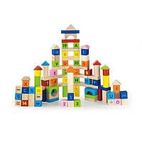 Набор кубиков Алфавит и числа Viga Toys 50288