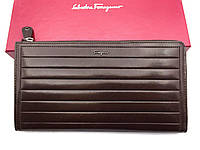 Мужской клатч Salvatore Ferragamo (F-7117) brown leather