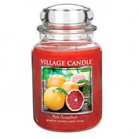 """Ароматическая свеча в стекле Village Candle """"Грейпфрут"""". 740 гр/ 170 часов"""