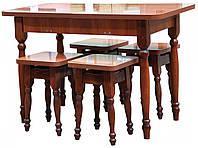 Стол кухонный + 4 табуретки 28мм раскладной