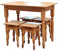 Стол кухонный + 4 табуретки 28мм