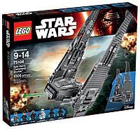 Пластиковый конструктор LEGO Star Wars Командный шаттл Кайло Рен (75104)