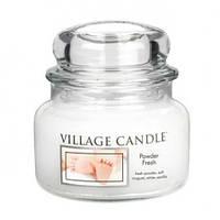 """Ароматическая свеча в стекле Village Candle """"Детская пудра"""". 315 гр/ 55 часов"""