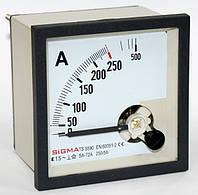 Амперметр 0 - 250А (250/5) панельный стрелочный цена 96х96мм щитовой переменного тока шкаф