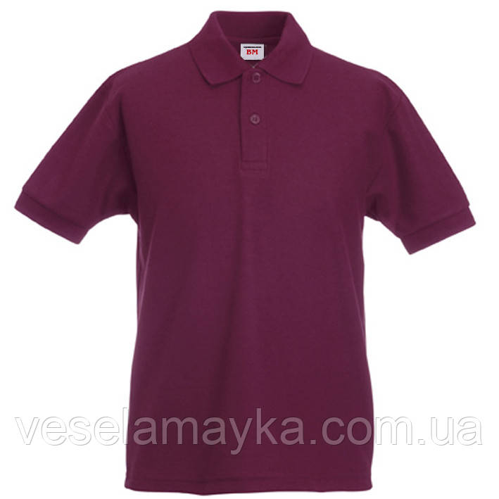 Дитяча бордова футболка поло (Преміум)