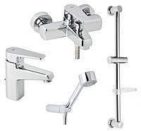 Набор смесителей для ванны и раковины Genebre Klip 04KLV17RO