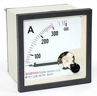 Амперметр 0 - 300А (300/5) щитовой в шкаф панельный стрелочный 96х96мм переменного тока цена