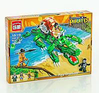 Конструктор детский пиратский корабль крокодил