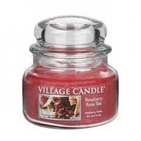 """Ароматическая свеча в стекле Village Candle """"Малиновый чай"""". 315 гр/ 55 часов"""