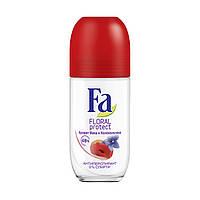 Антиперспирант роликовый Fa Floral Protect(Мак и Колокольчик), 50мл