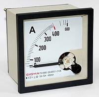 Амперметр 0 - 400А (400/5) в шкаф щитовой панельный стрелочный 96х96мм переменного тока цена