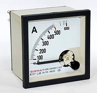 Амперметр 0 - 500А (500/5) панельный стрелочный 96х96 мм переменного тока в шкаф щитовой цена
