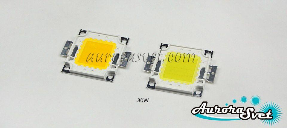 LED 30W Warm White (Светодиод Теплый белый 30 Вт). LED диод. Светодиод LED. Диод.
