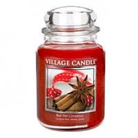 """Ароматическая свеча в стекле Village Candle """"Корица"""". 740 гр/ 170 часов"""