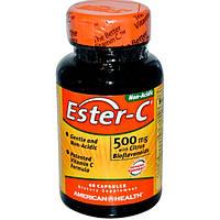 Ester-C (Эстер Си) Нейтральный Витамин С с биофлавоноидами 500 мг 60 капс  для иммунитета American Health USА
