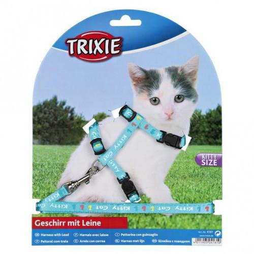 """Поводок+шлея для котят Trixie """"Kitty Cat"""", 21/23см/8мм"""