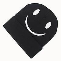 Стильная теплая шапка Смайл