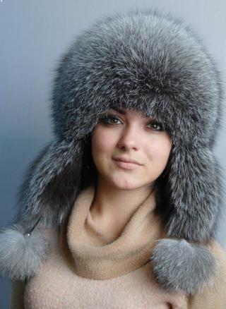 Женские шапки ушанки из меха кролика