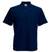 Детская глубоко темно-синяя футболка поло (Премиум)