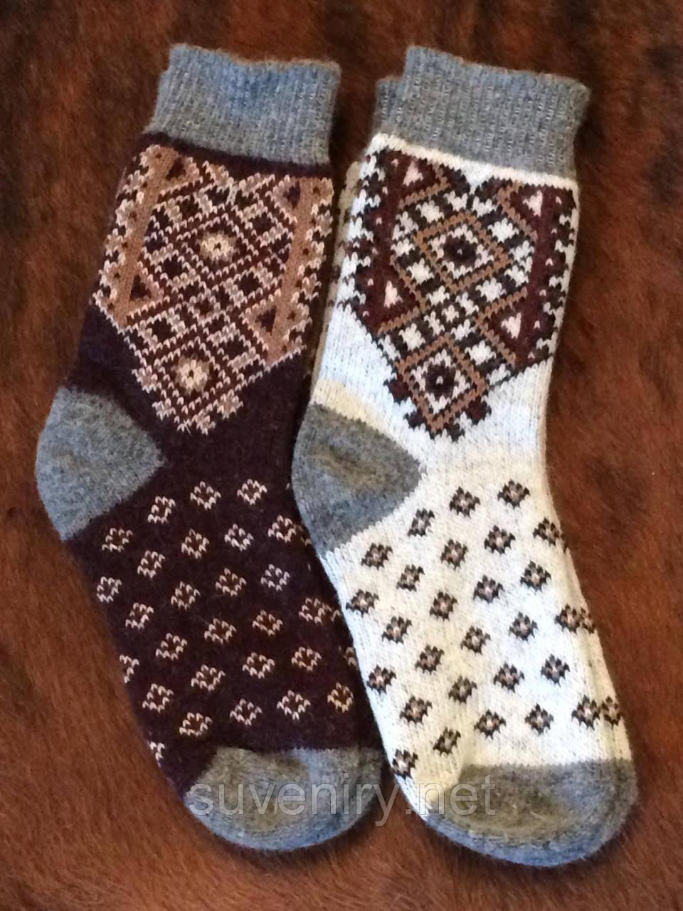 Теплые мужские носки из ангоровой шерсти
