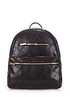 Рюкзак женский Poolparty Mini Черный искусственная кожа