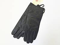 Зимние женские перчатки из натуральной кожи
