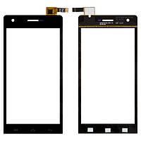 Touchscreen (сенсорный экран) для Doogee DG350, черный, оригинал