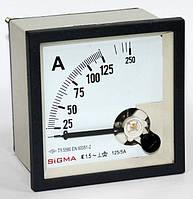 Амперметр 0-125А (125/5) переменного тока щитовой 72х72 мм стрелочный цена панельный в шкаф