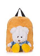 Детский рюкзак Poolparty с медведем искусственный мех