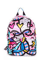 Рюкзак женский Poolparty розовый, полиэстр