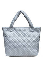 Стеганая сумка Poolparty Еco-grey серый