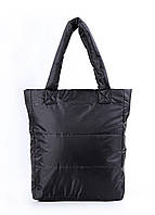 Дутая сумка Poolparty из стеганой болоньи черная