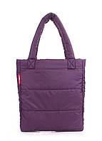Дутая сумка Poolparty из стеганой болоньи фиолетовая