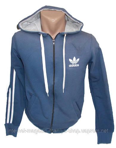 Кофта мужская спортивная капюшоном Adidas