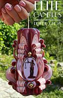 Подарок Юристу, свеча с табличкой, красивая форма ручной работы